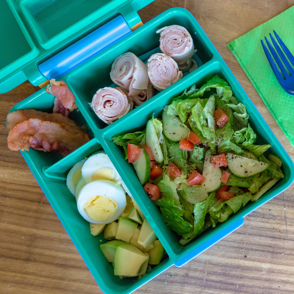 Deconstructed Cobb Salad Bento Lunch for Kids