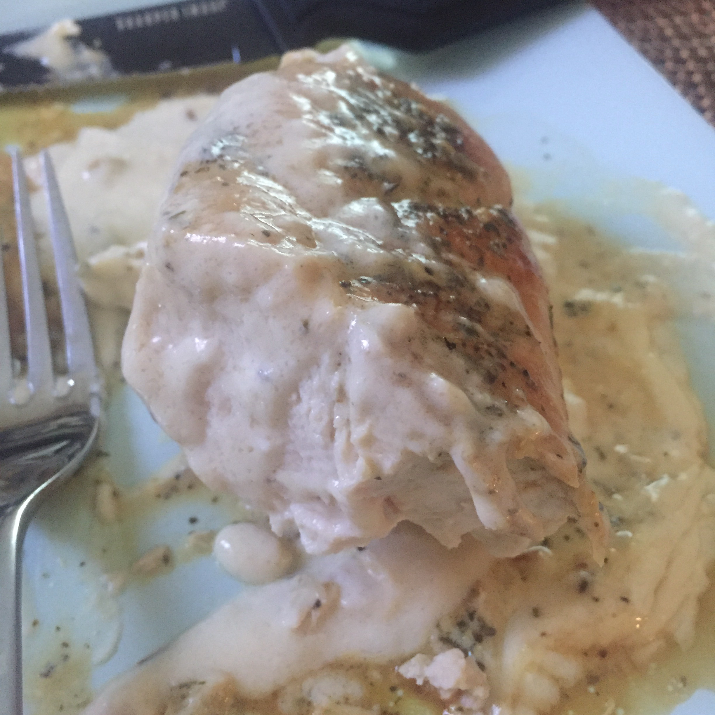 Garlic Cream Sauce over Chicken Breasts Taylor L