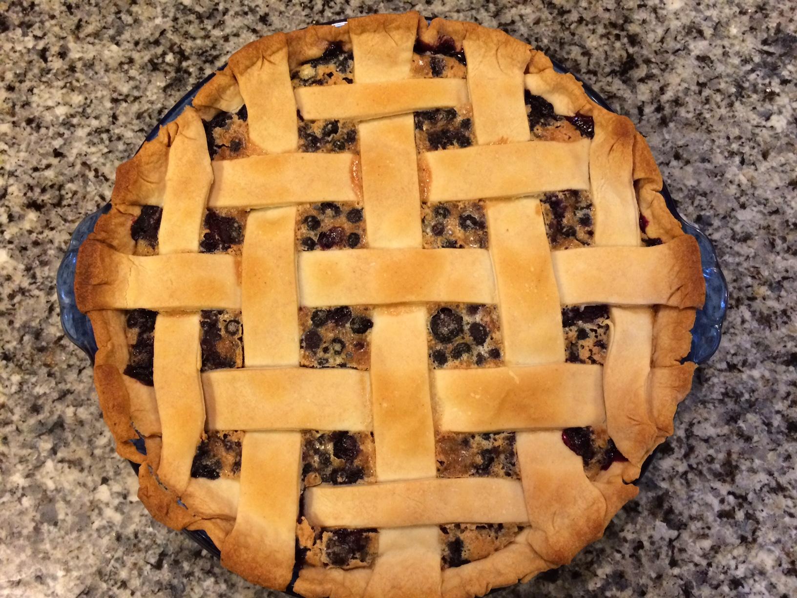 Old-Fashioned Blueberry Custard Pie
