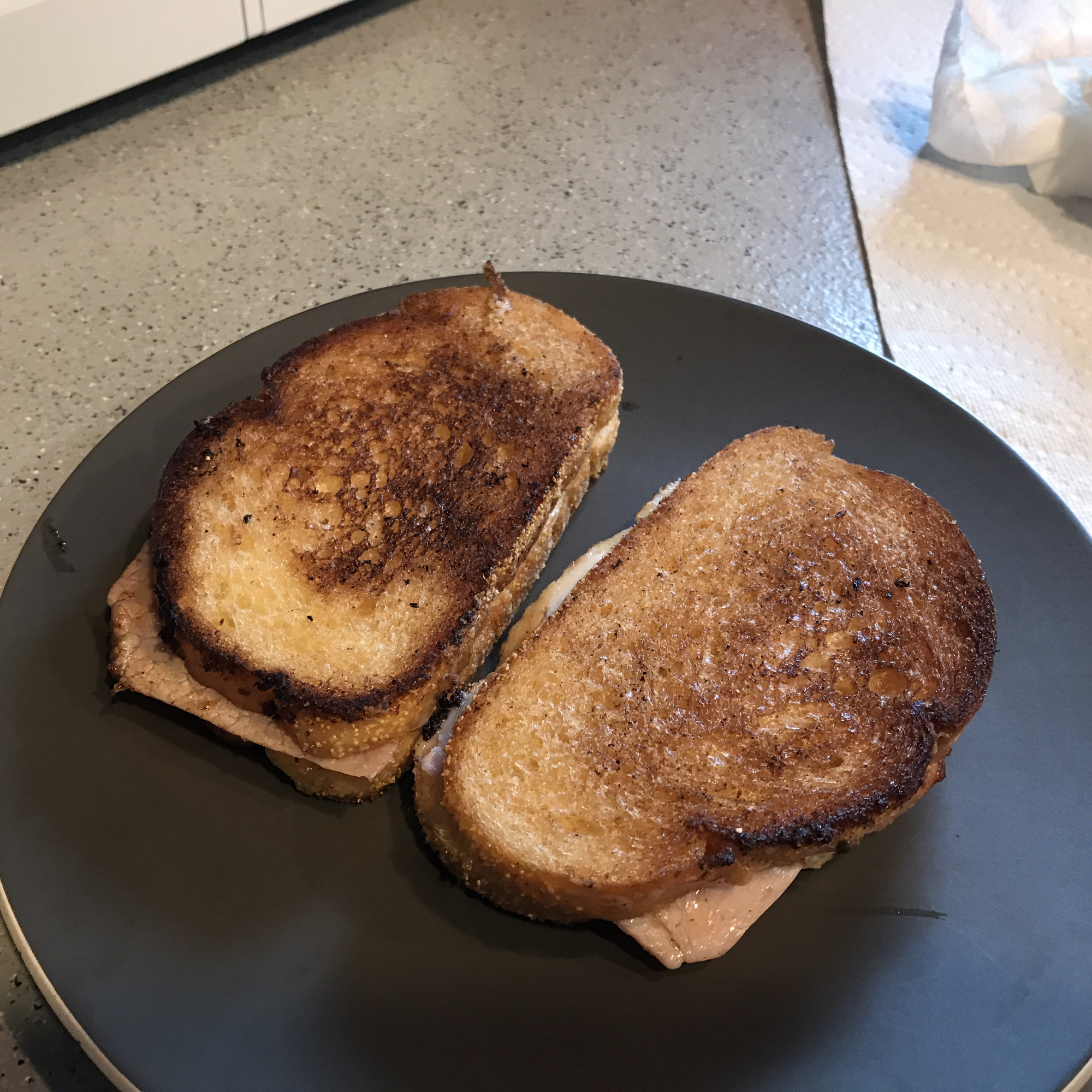 Grilled Chicken Cordon Bleu Sandwiches therealaconlin
