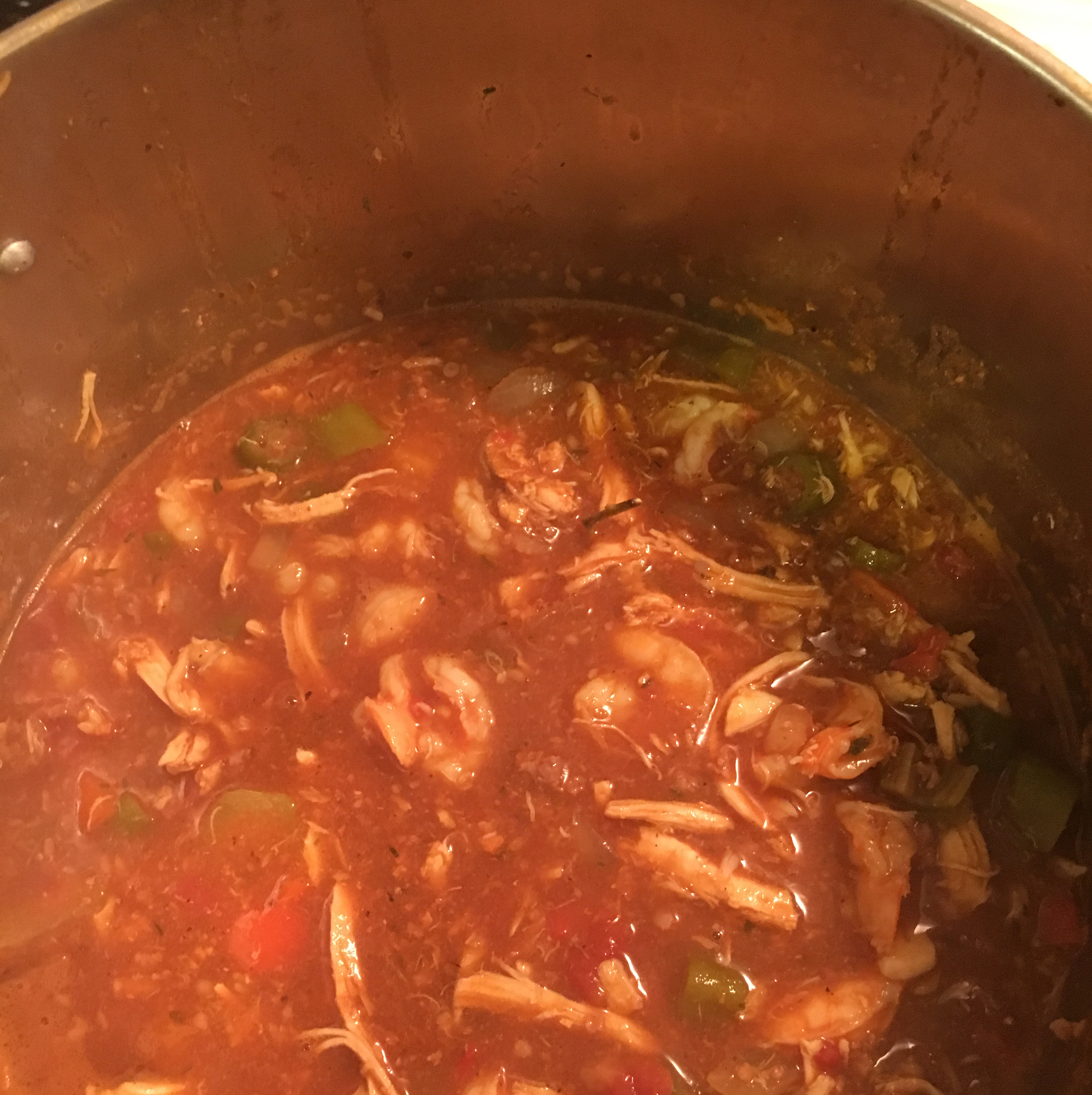 Shrimp and Sausage and Chicken Gumbo Marquis T Jones