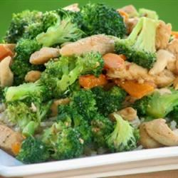 Sweet and Spicy Stir Fry with Chicken and Broccoli mominml