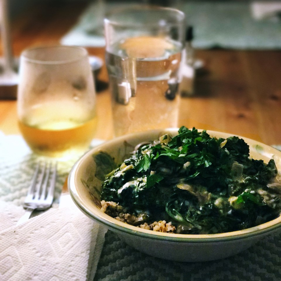 Kale and Mushroom Stroganoff with Quinoa Amanda Reilly