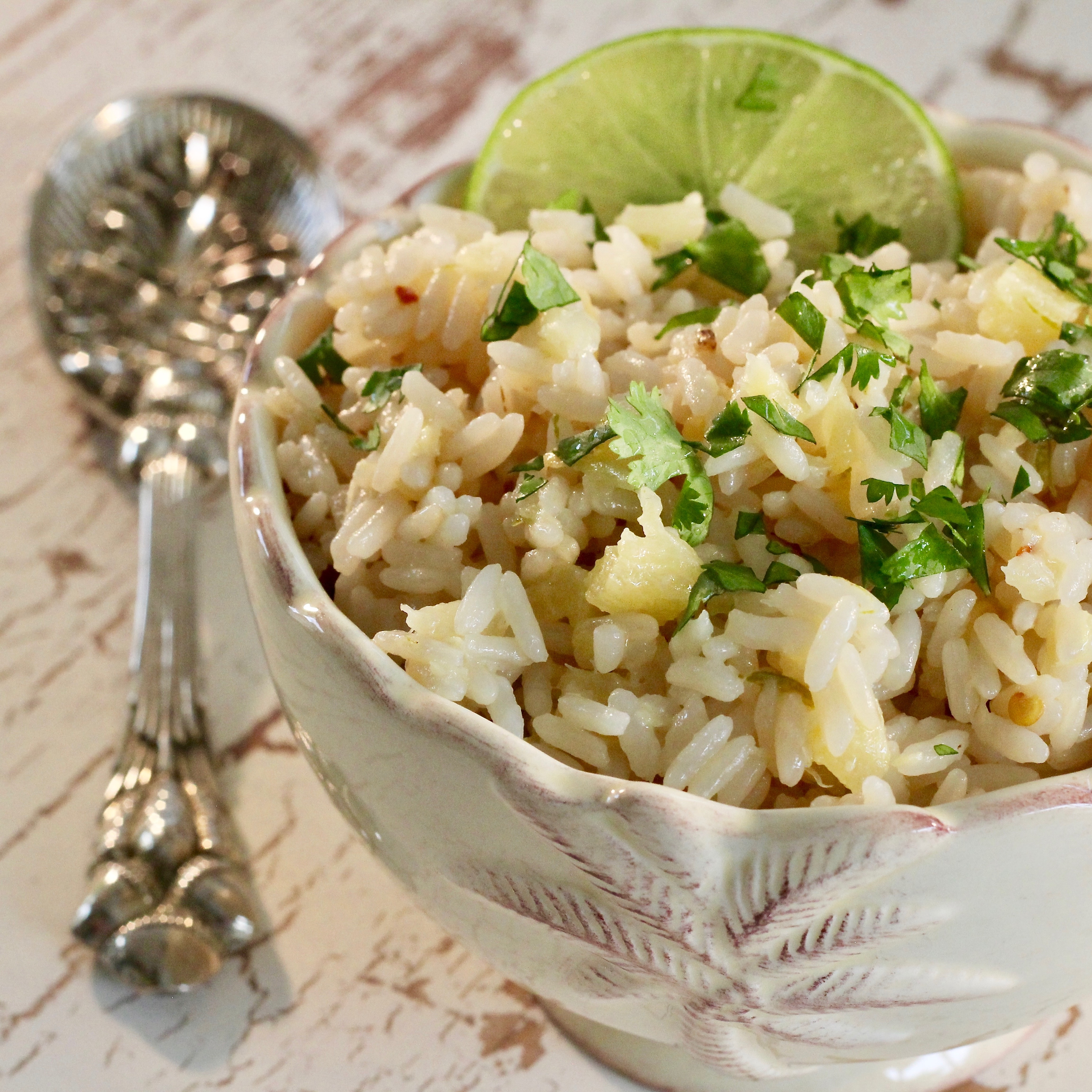 Instant Pot(R) Pineapple-Coconut-Lime Rice