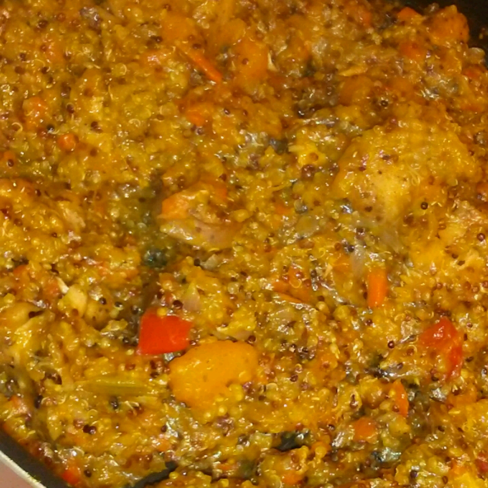Stovetop Butternut Squash and Chicken Stew with Quinoa