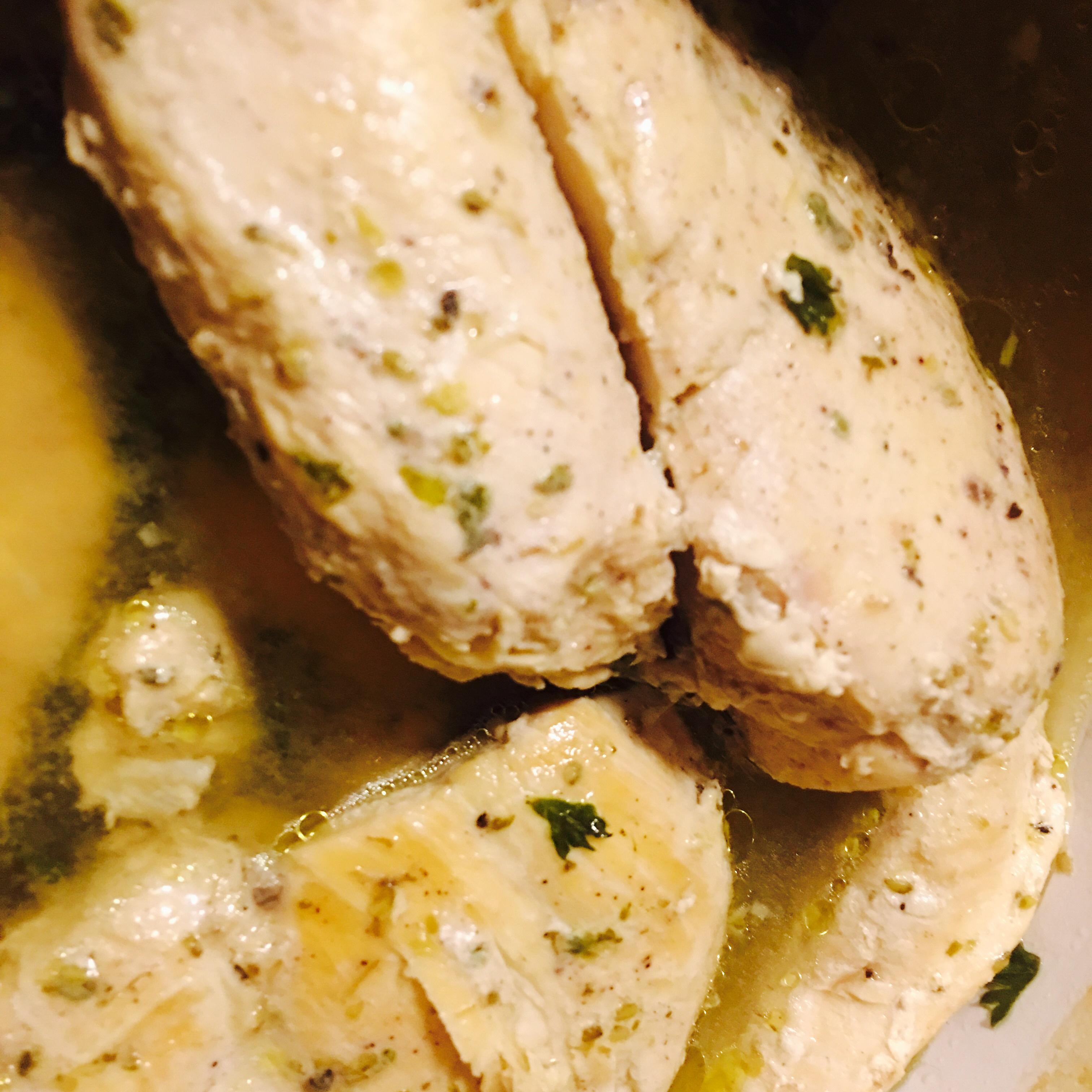 Slow Cooker Lemon Garlic Chicken II Vanessa Martens