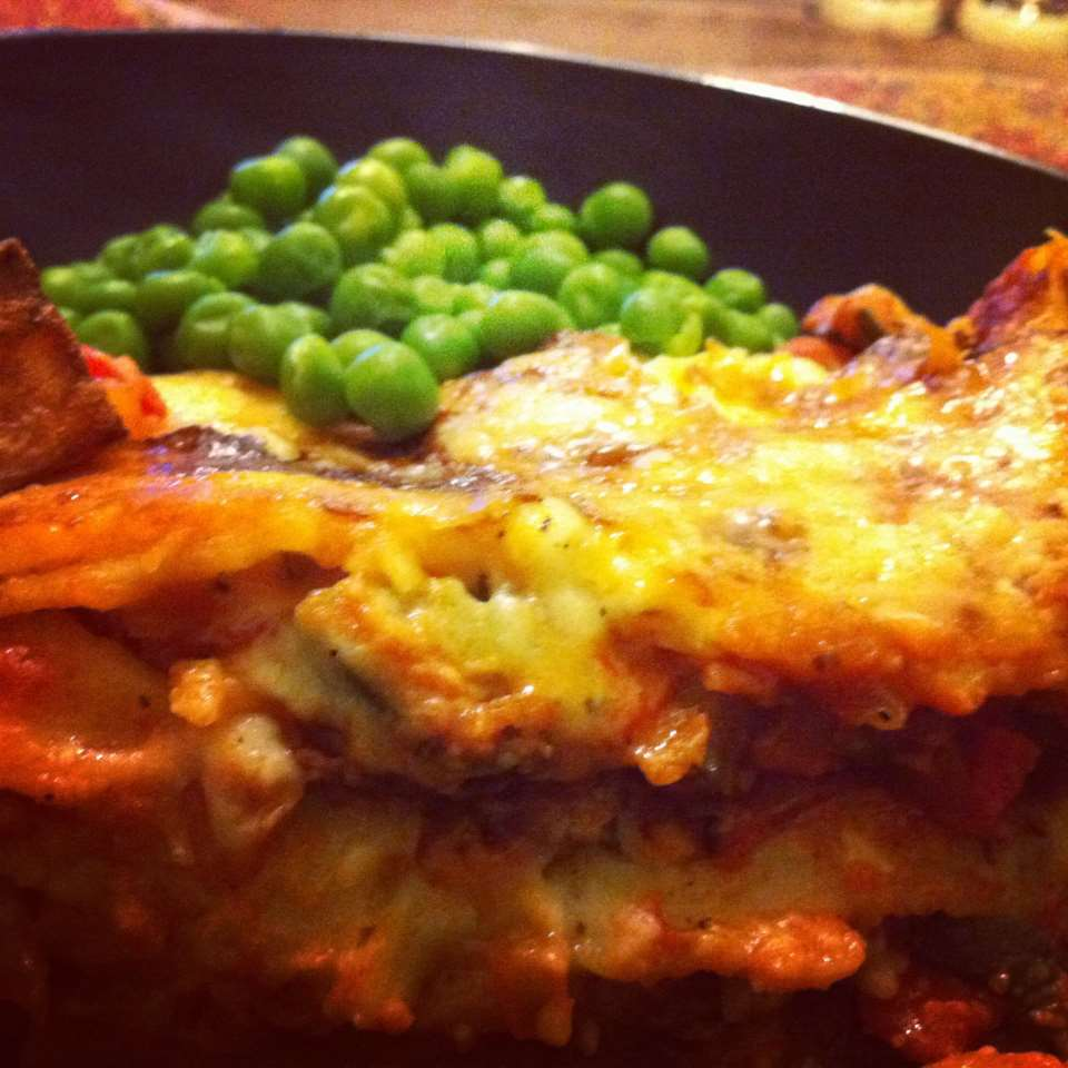 Homemade Gluten-Free and Lactose-Free Vegetable Lasagna