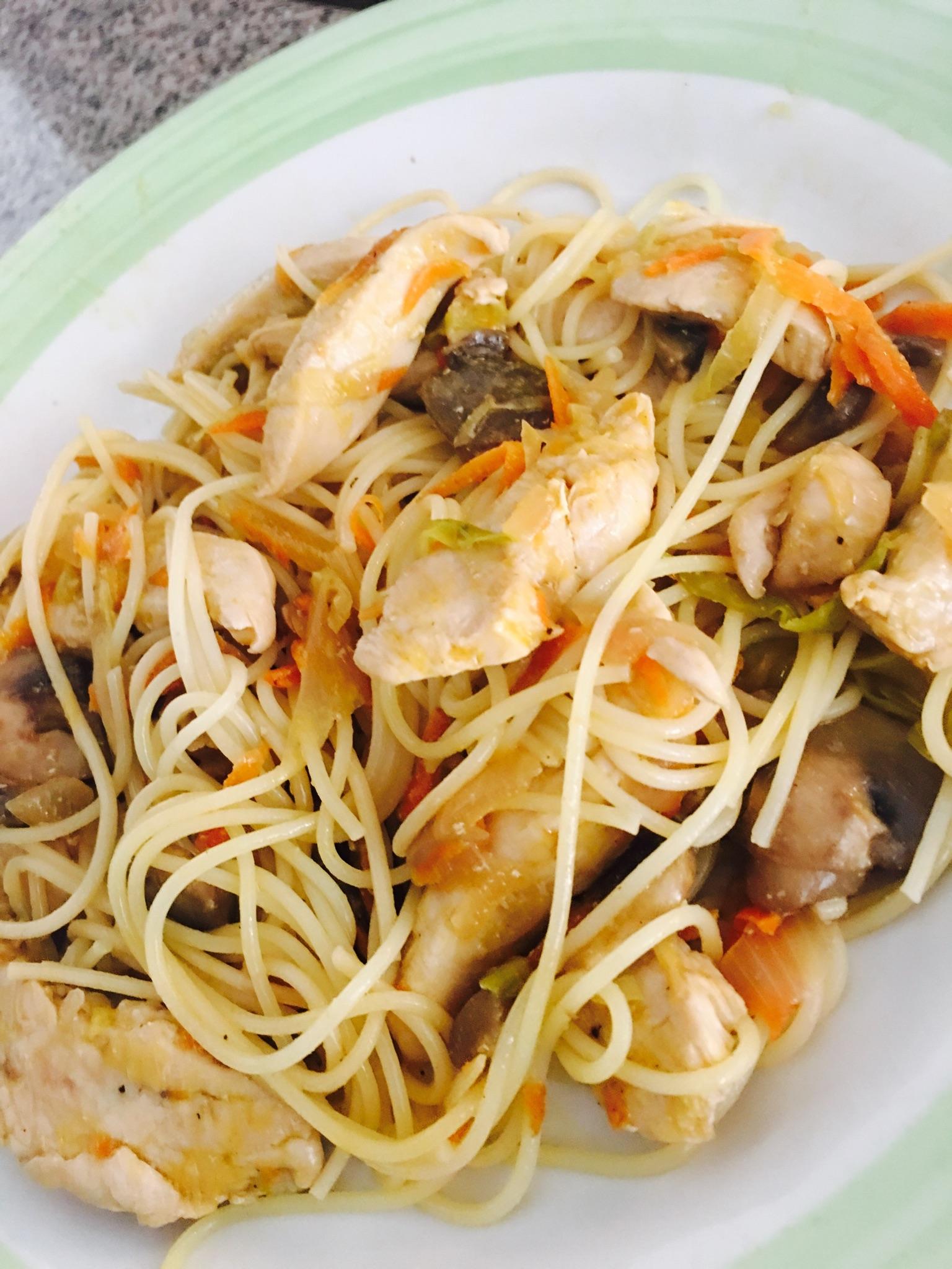 Cantonese Chicken Chow Mein Debbie Estrada Moreno
