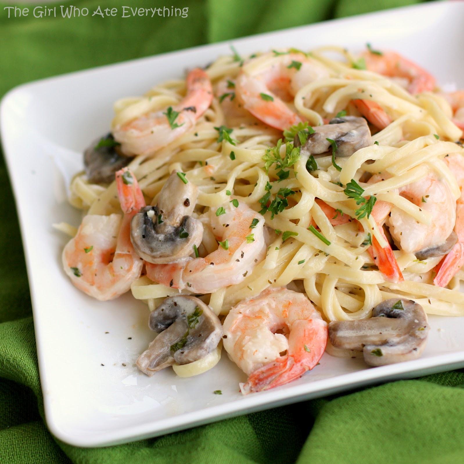 Creamy Shrimp Pasta with Mushrooms image