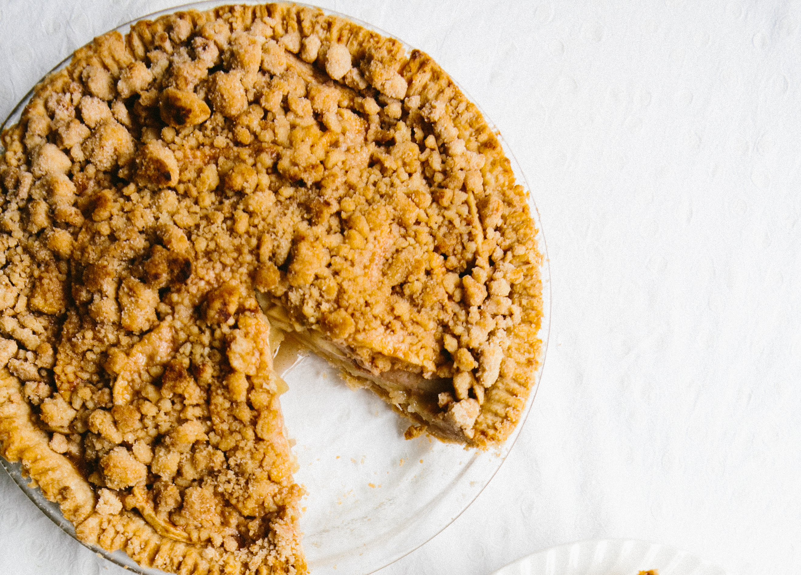 Snickerdoodle Crusted Apple Pie