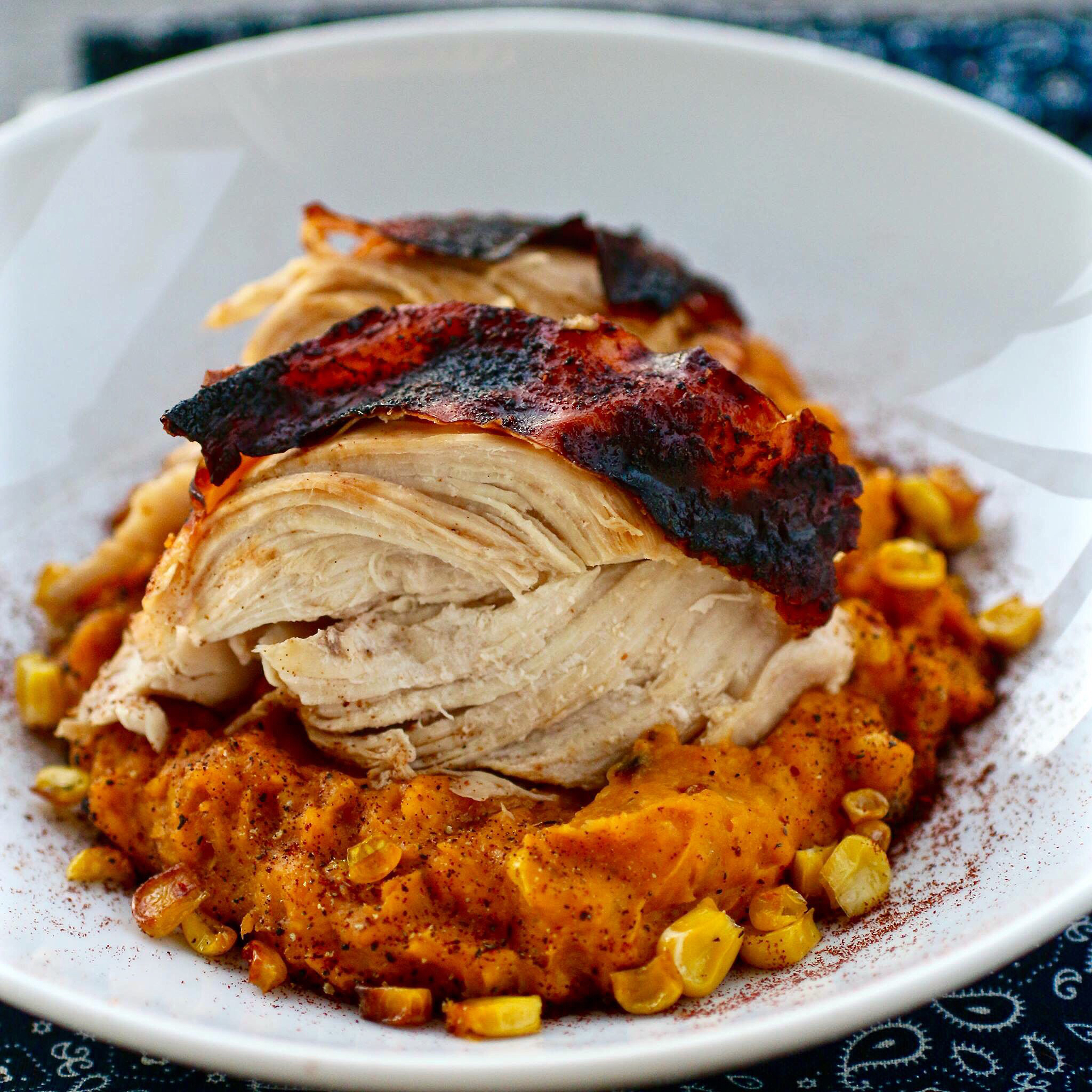 Aztec Chicken with Sweet Potato-Corn Mash Vintage Chef