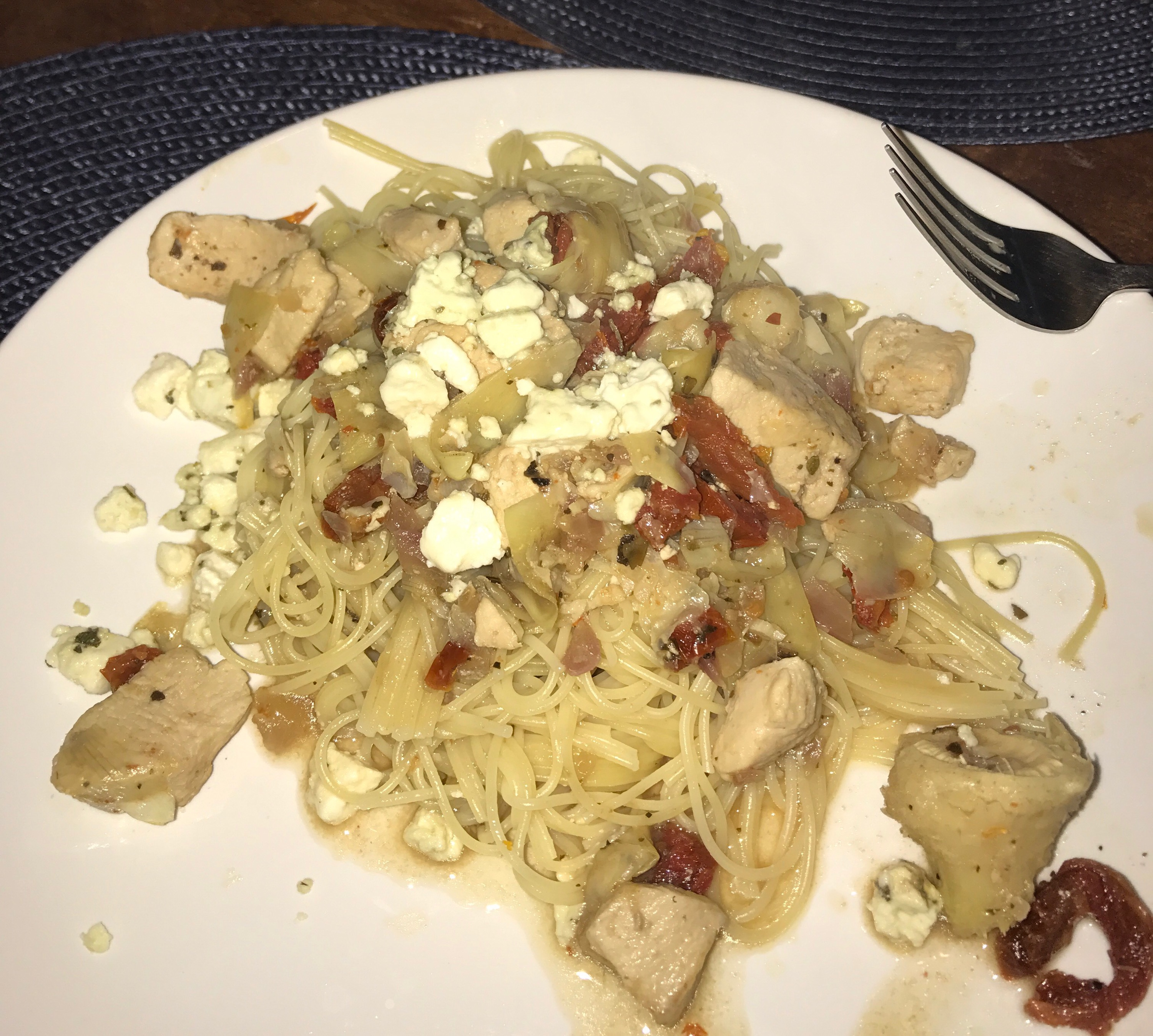 Chicken with Artichokes and Sundried Tomatoes Kelly