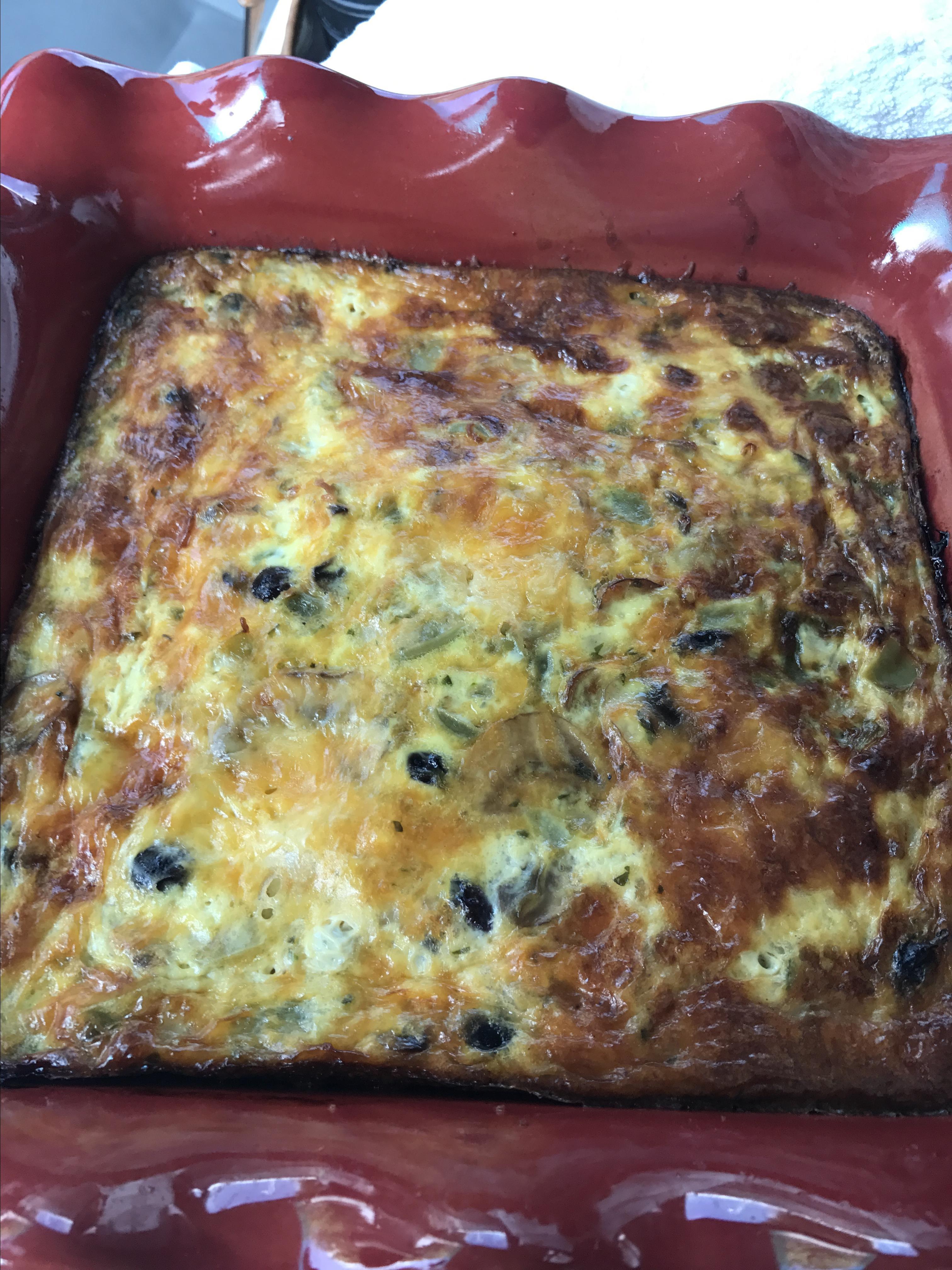 Cheesy Vegetarian Egg Bake Isabel