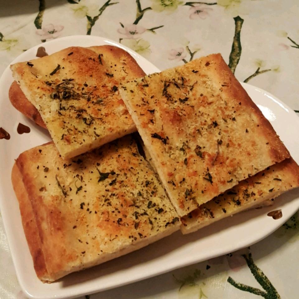 Garlic Cheese Flatbread Gina Izzy Shores