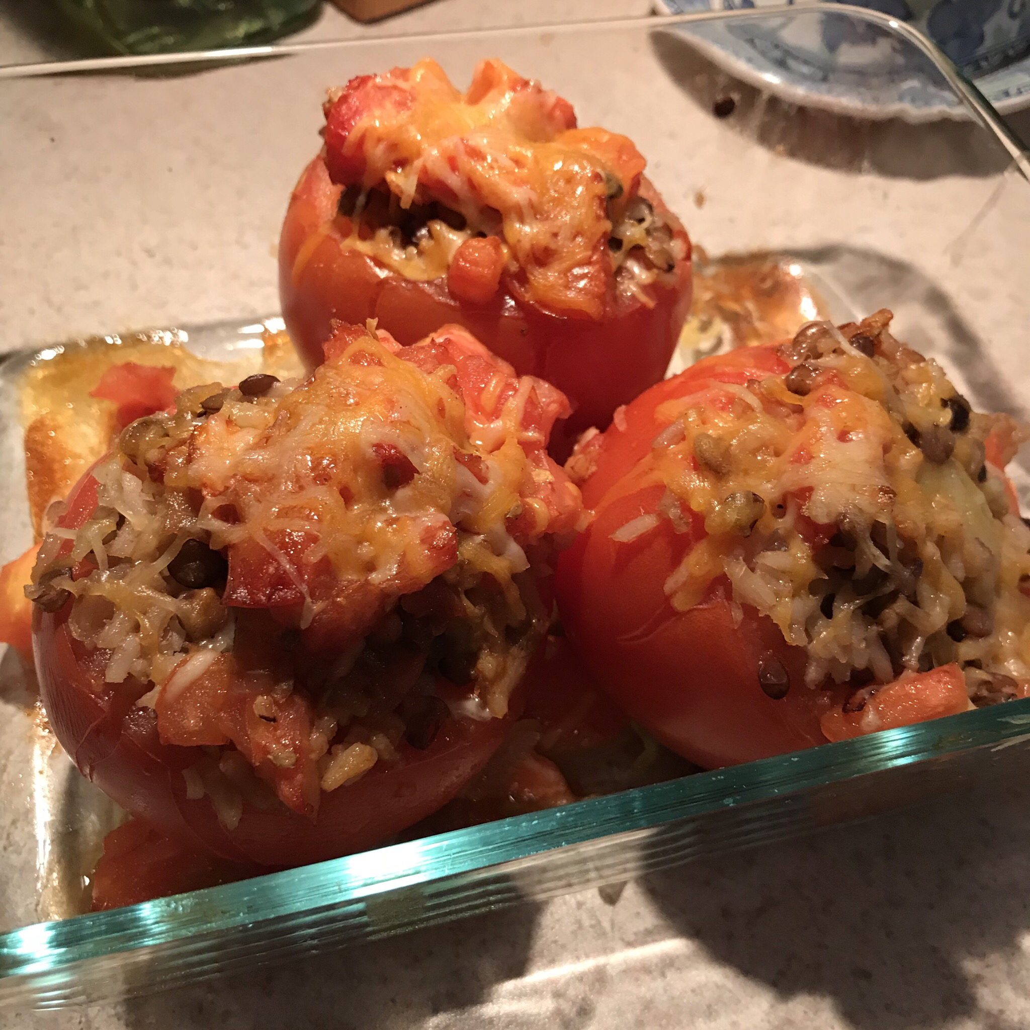 Lentil Stuffed Tomatoes SUE