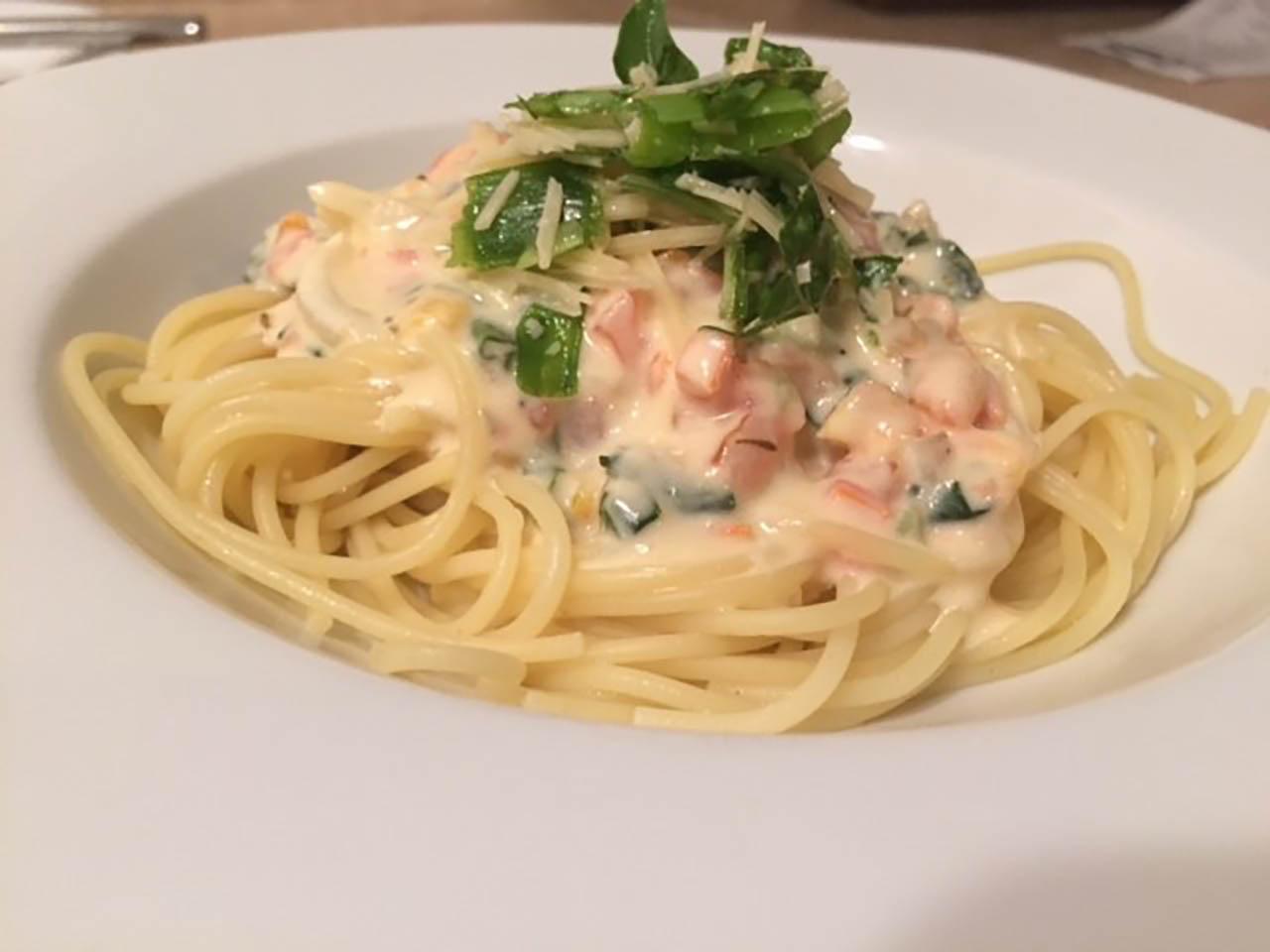 Creamy Basil Margherita Spaghetti