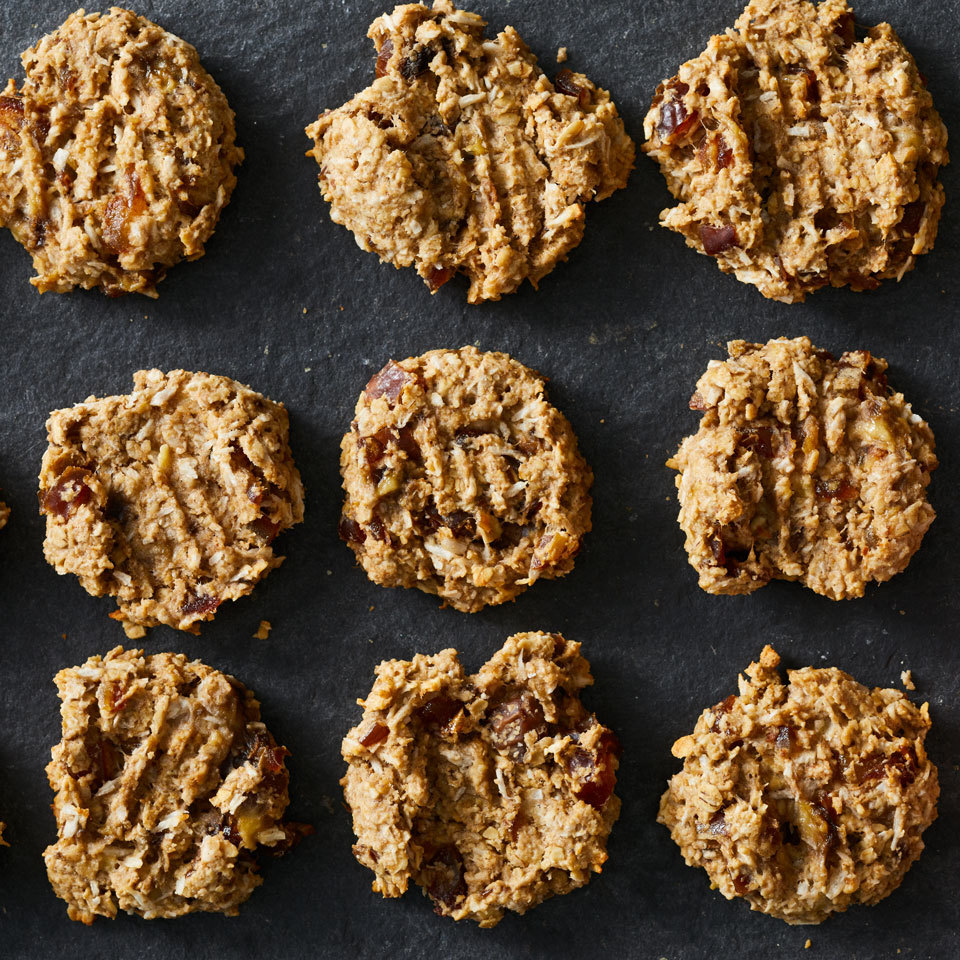 Classic oatmeal cookies without all the sugar, these better-for-you gluten-free treats get their sweetness from ripe bananas and chopped dates.