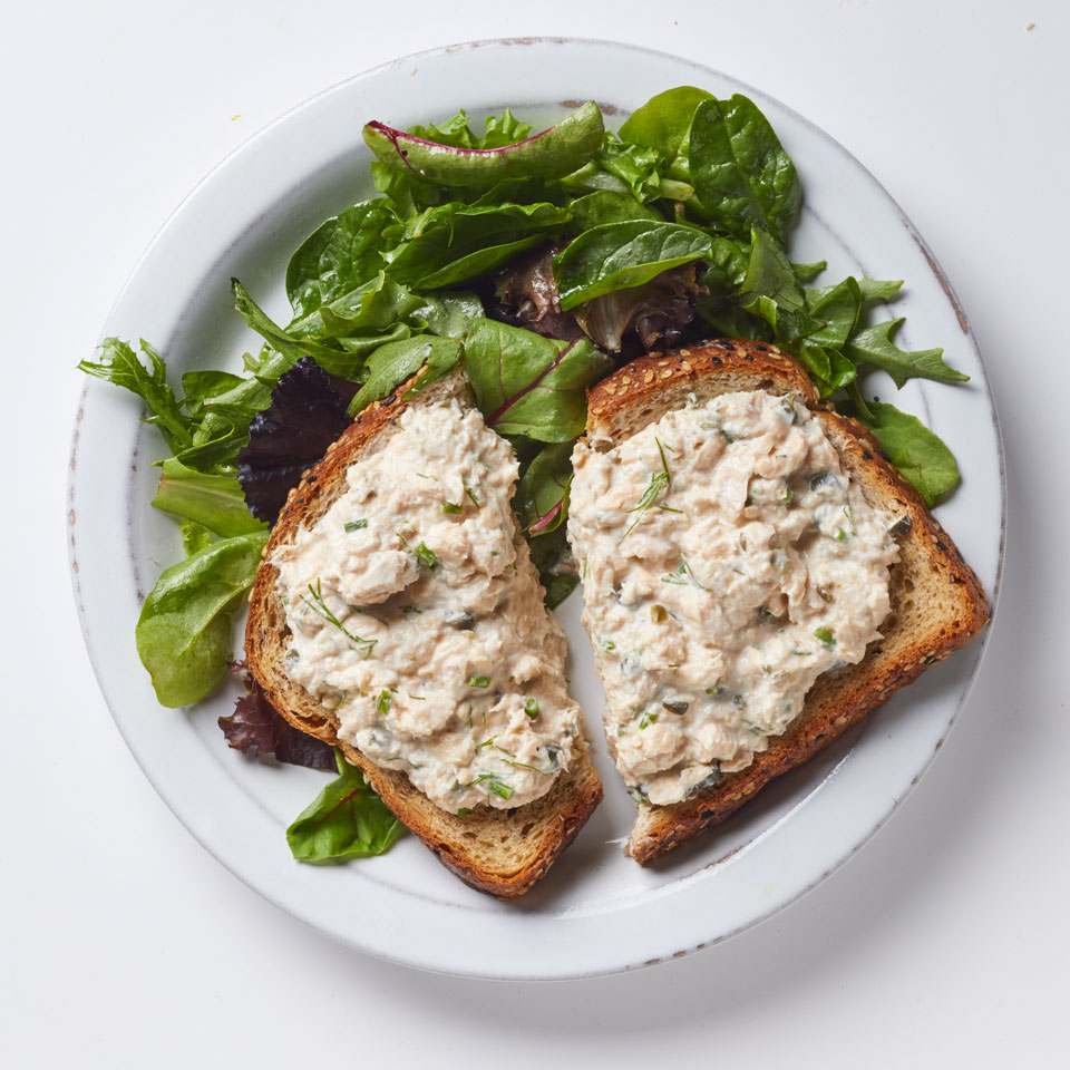 Salmon Salad Tartine & Mixed Greens Breana Killeen