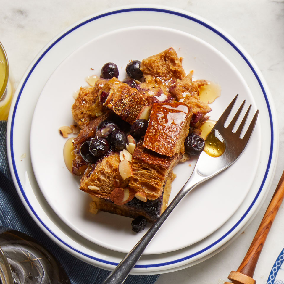 Pick your favorite table-worthy baking dish for this healthy French toast recipe—the breakfast casserole goes straight from the oven to the table. Serve with pure maple syrup.