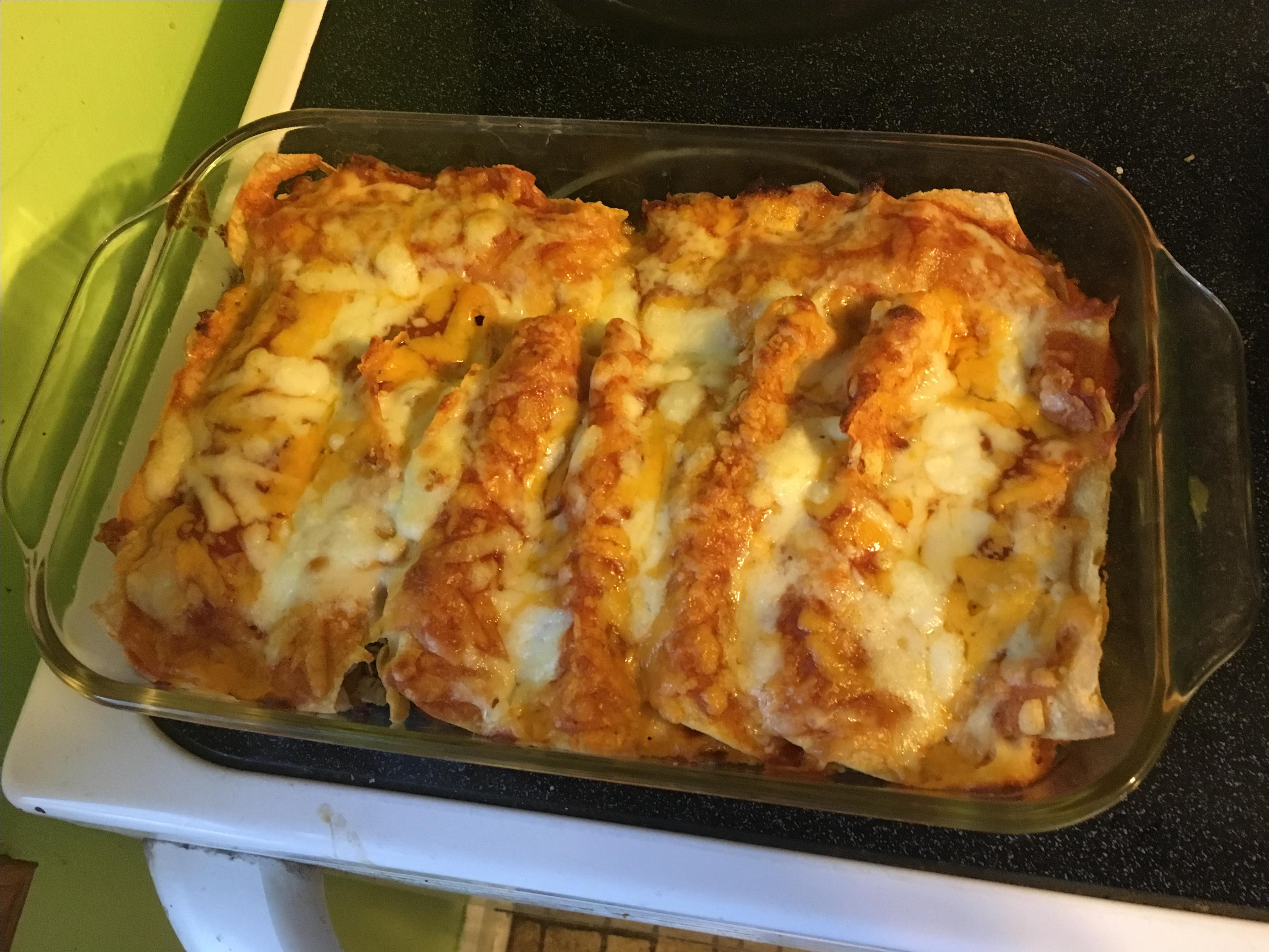Bacon-Ranch Chicken Enchiladas