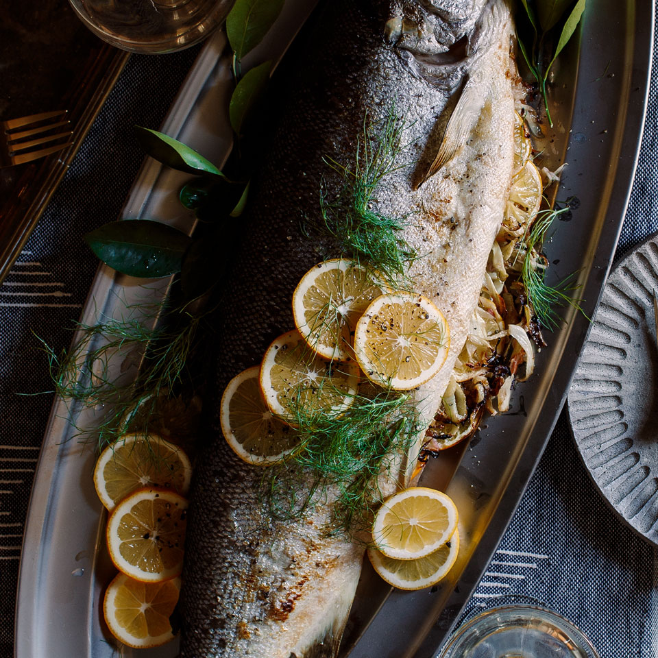 Fennel & Meyer Lemon-Stuffed Salmon David Bonom