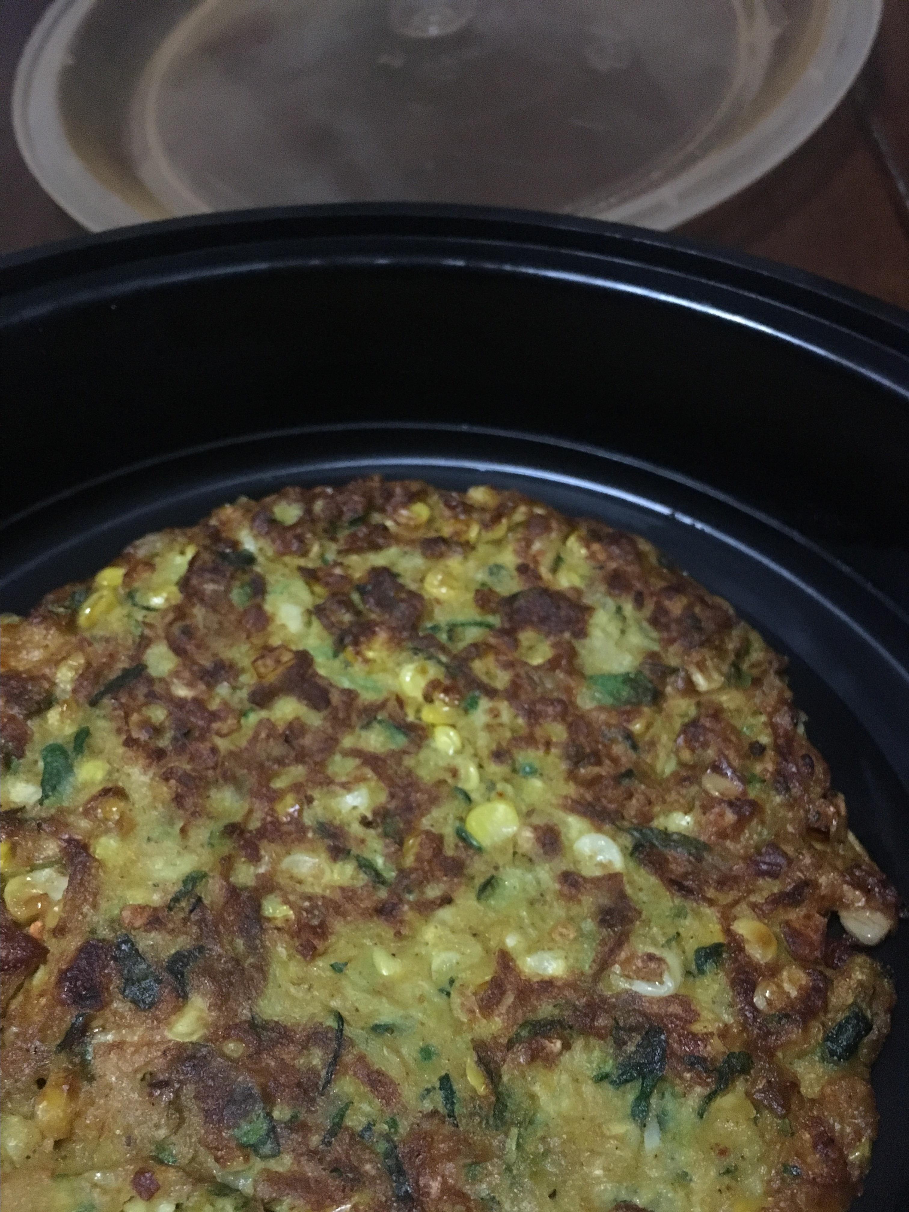 Curried Zucchini Corn Fritters