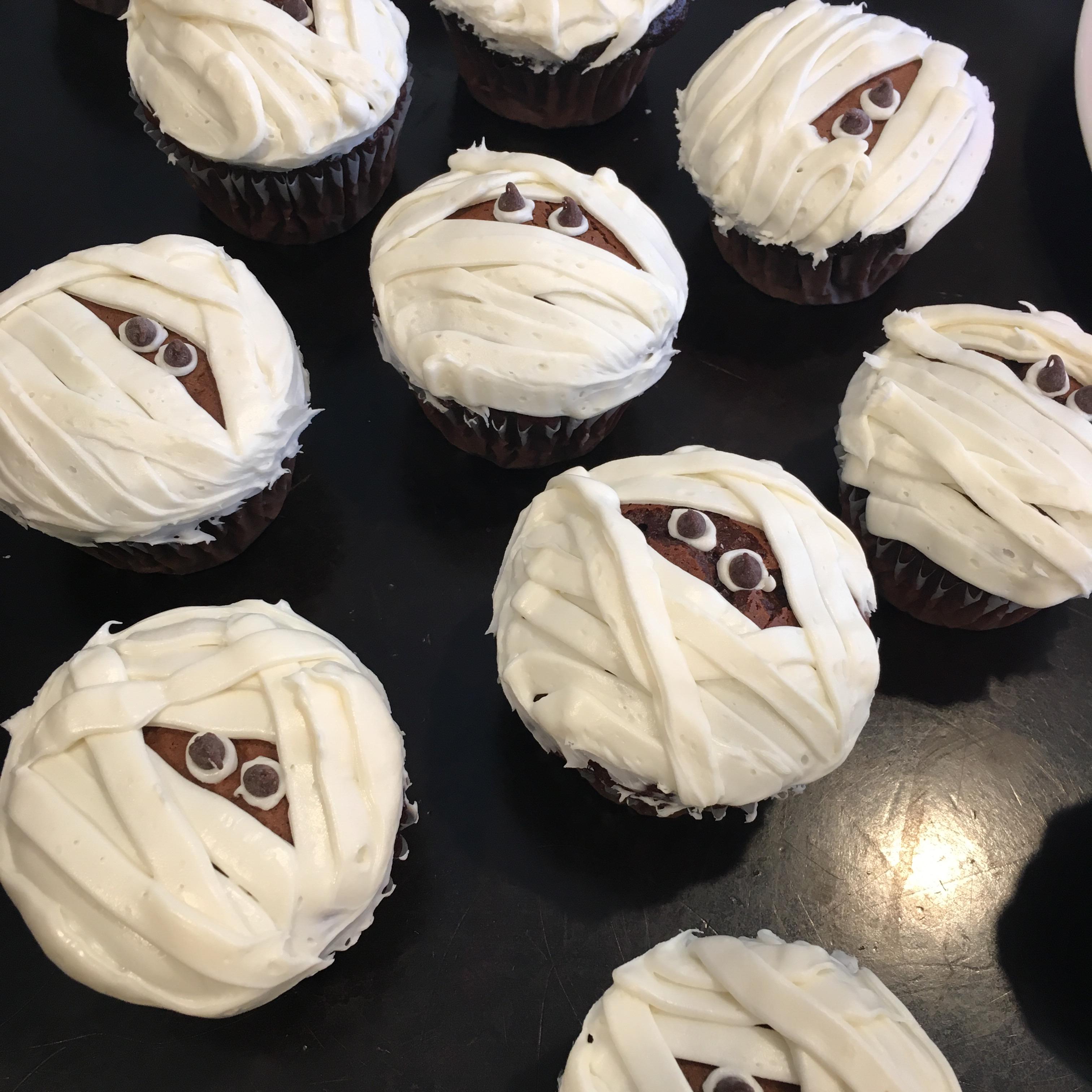 Easy Halloween Mummy Cupcakes Recipe Allrecipes Com Allrecipes