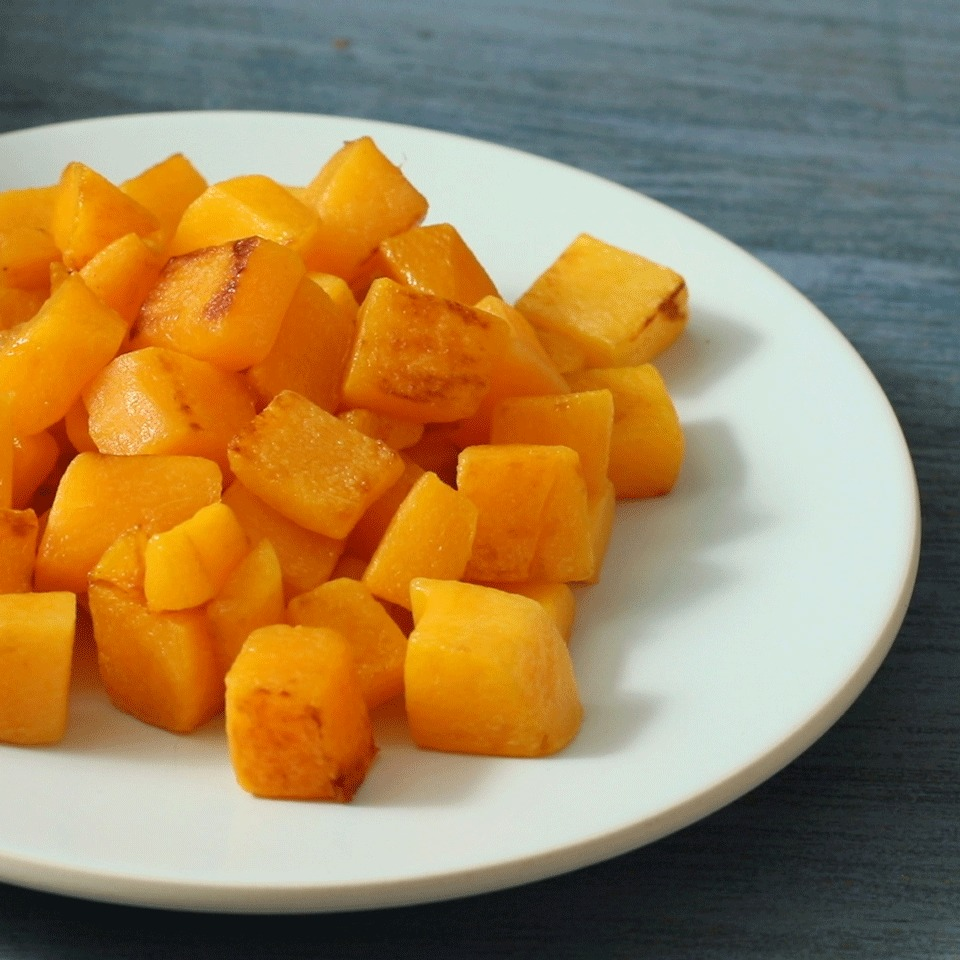 Sautéeing butternut squash in olive oil quickly yields perfectly cooked results and slightly caramelizes the squash for extra flavor. This recipe makes a delicious vegetable side dish to pair with roasted meats.