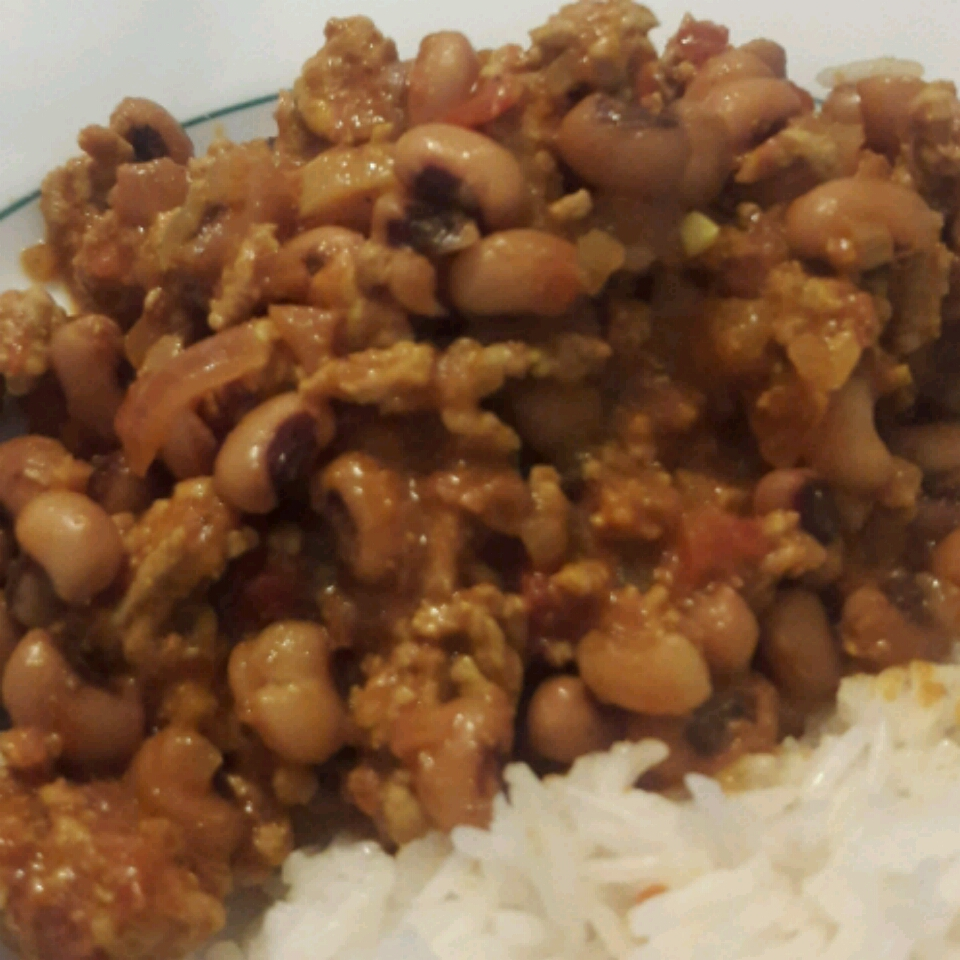Minced Beef with Black-Eyed Beans