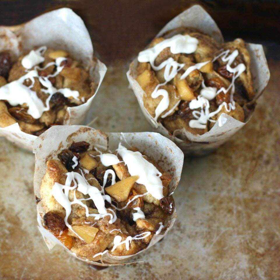 Easy Apple Cinnamon Roll Muffins