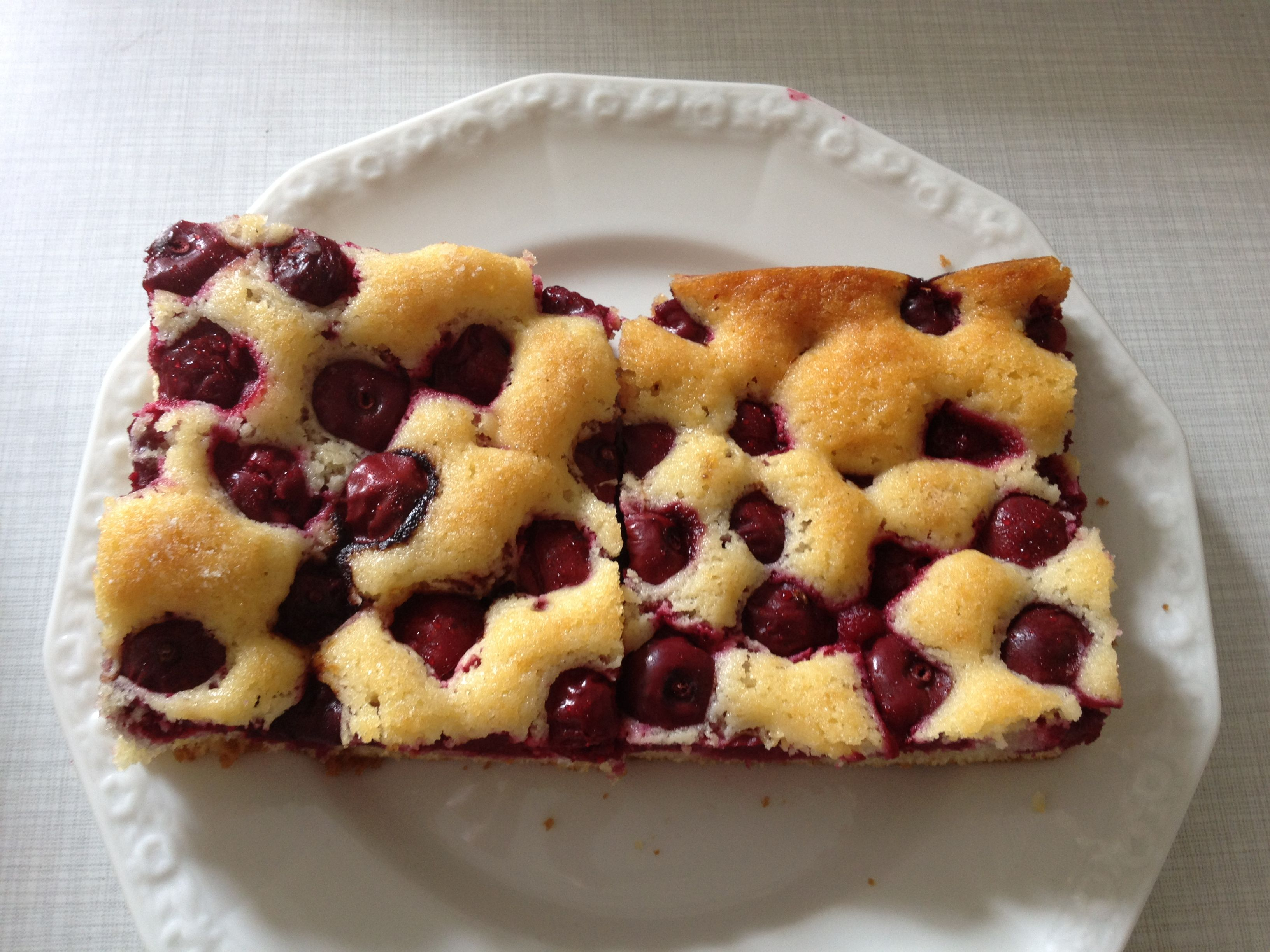 Sheet Cake with Sour Cherries