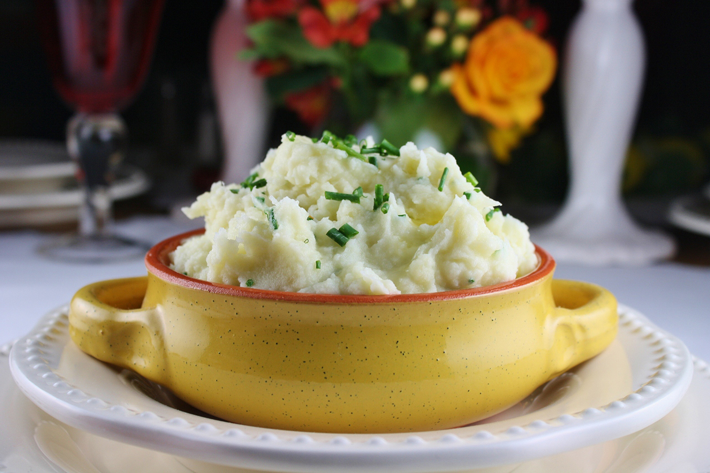 Roasted Garlic Parmesan Mashed Potatoes