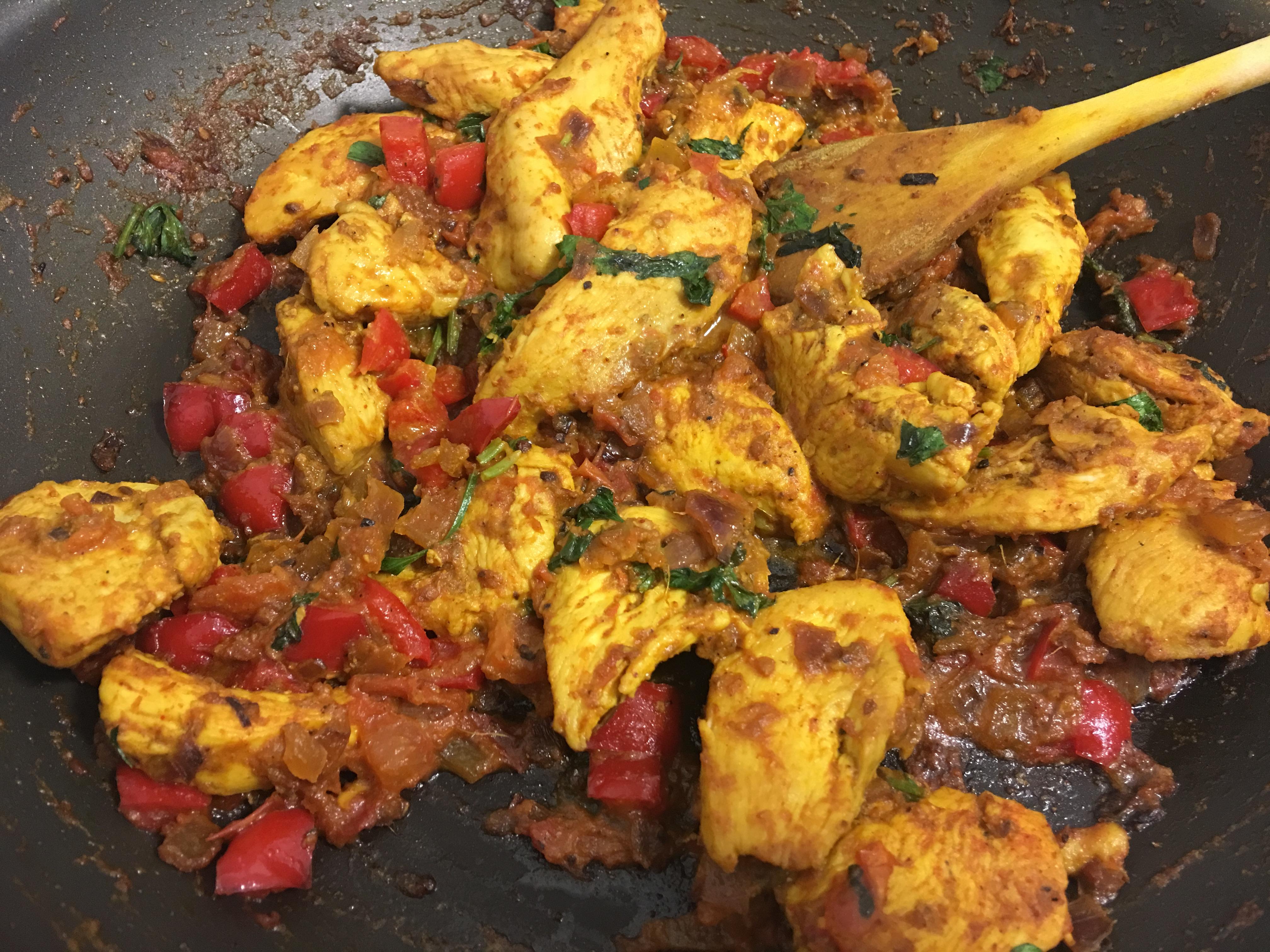 Chicken Fry Sue Peas