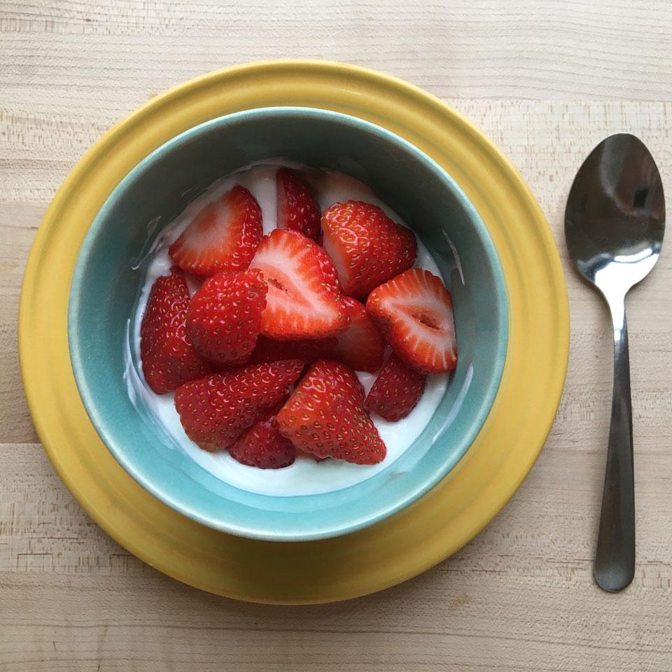 Greek Yogurt with Strawberries Victoria Seaver, M.S., R.D.