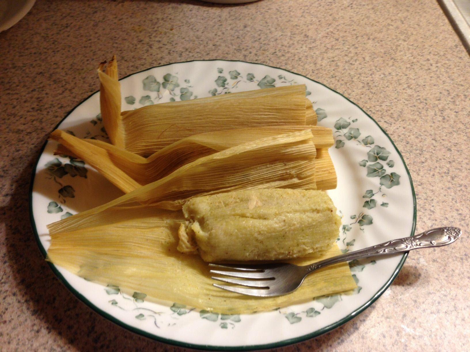 Green Chicken Tamales AllrecipesPhoto