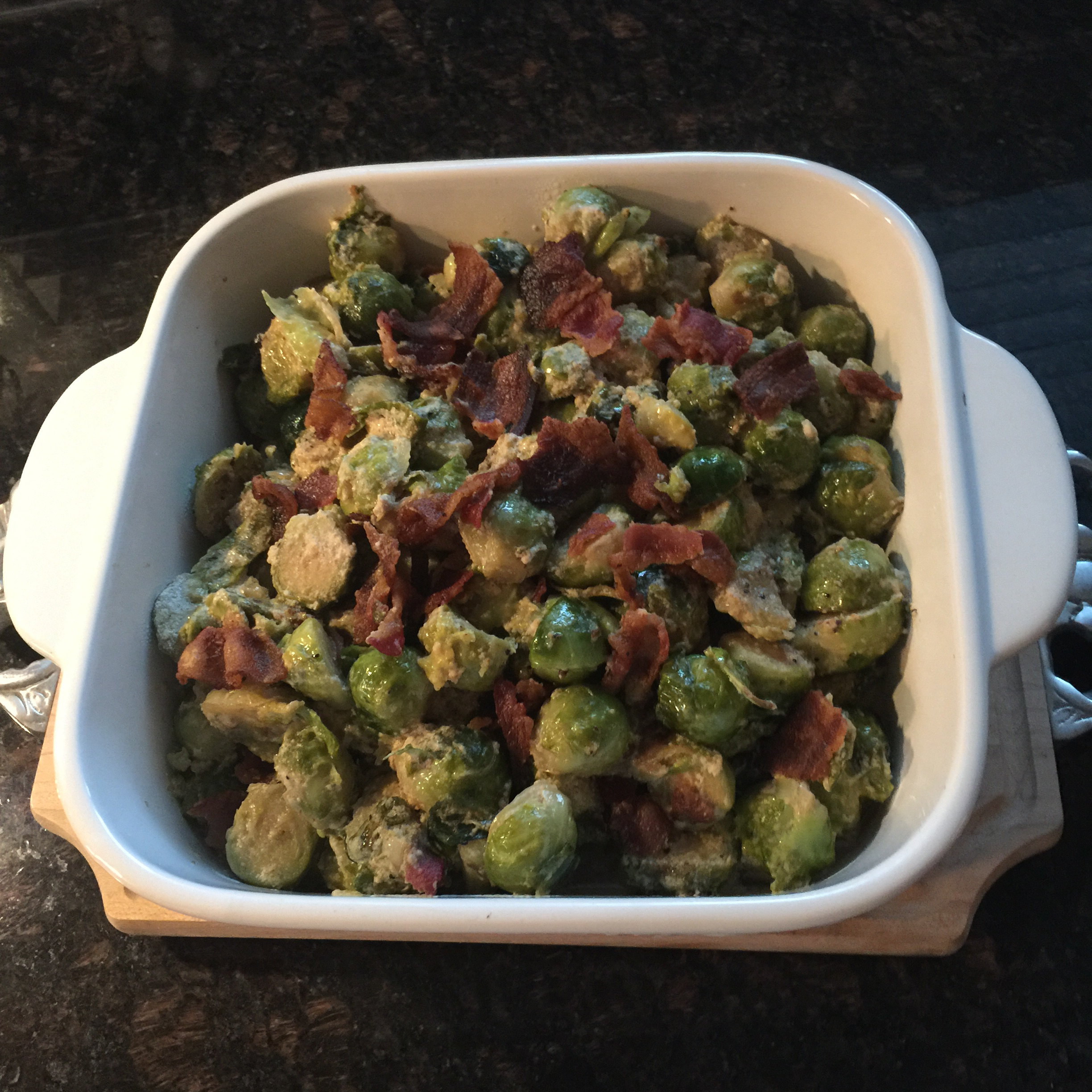 Cream-Braised Brussels Sprouts Quiqui Vasquez