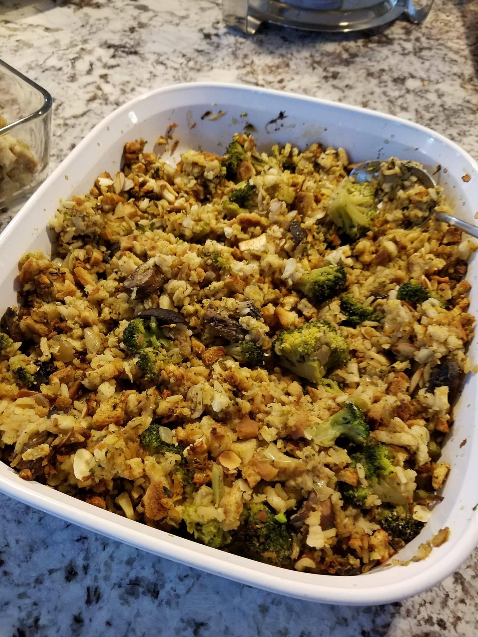Leslie's Broccoli, Wild Rice, and Mushroom Stuffing Leslie Eickhoff-Davis