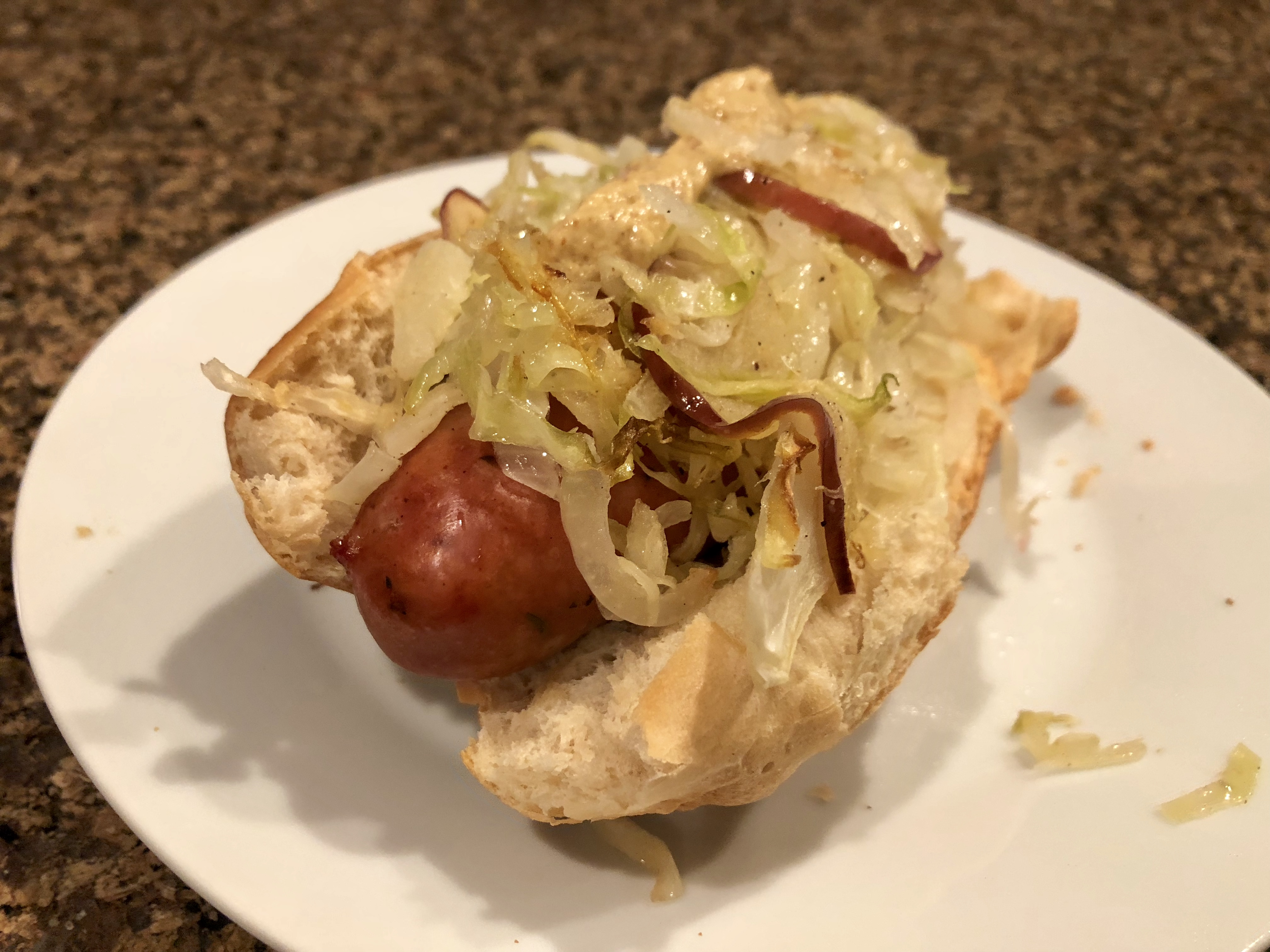 Basic Sheet Pan Chicken Sausage and Roasted Cabbage Fioa