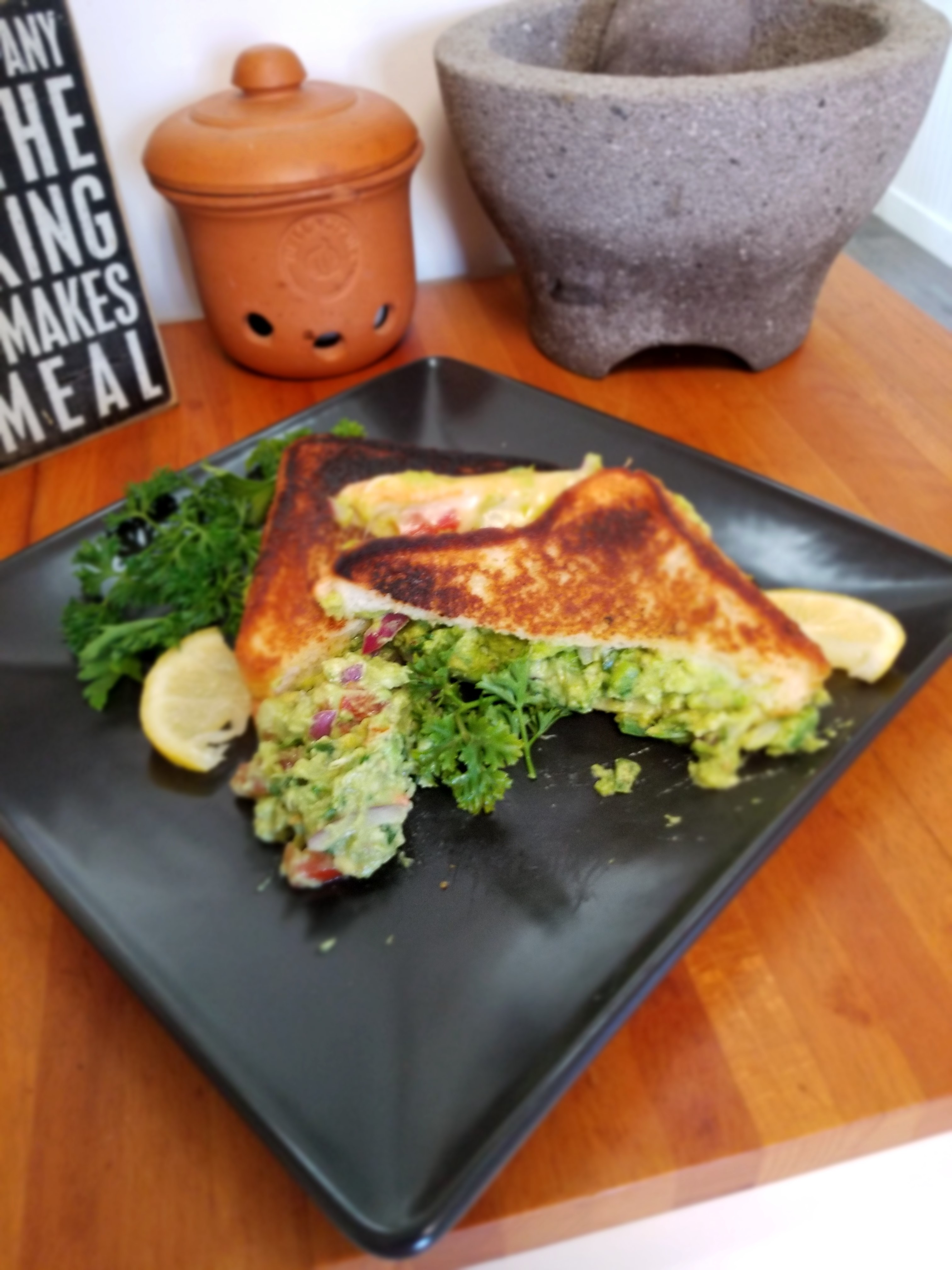 Texas Toast Guacamole Grilled Cheese Sandwich