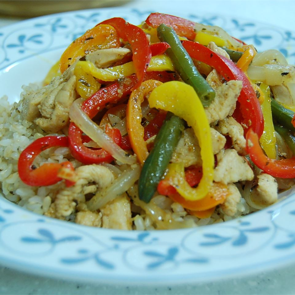 Chicken and Peppers with Balsamic Vinegar Babycoconut