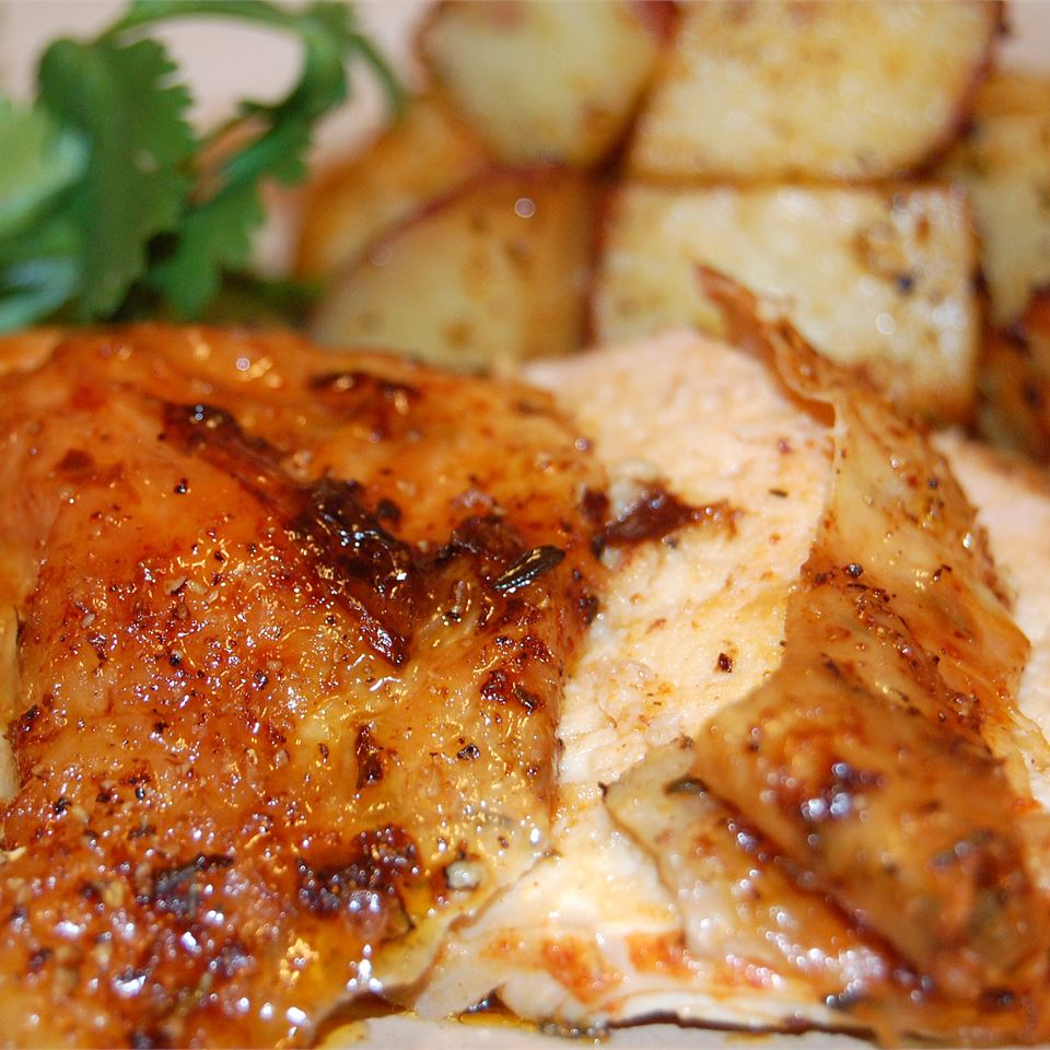 Roast Sticky Chicken-Rotisserie Style Sue Rogers