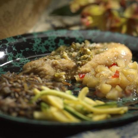 Mixed Lettuce, Fennel & Orange Salad with Black Olive Vinaigrette