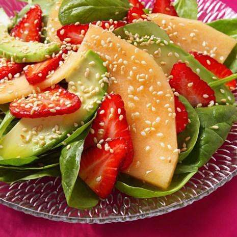 Strawberry, Melon & Avocado Salad
