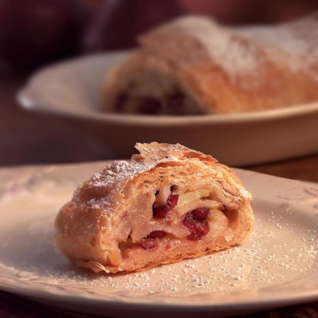Pear & Dried Cranberry Strudel