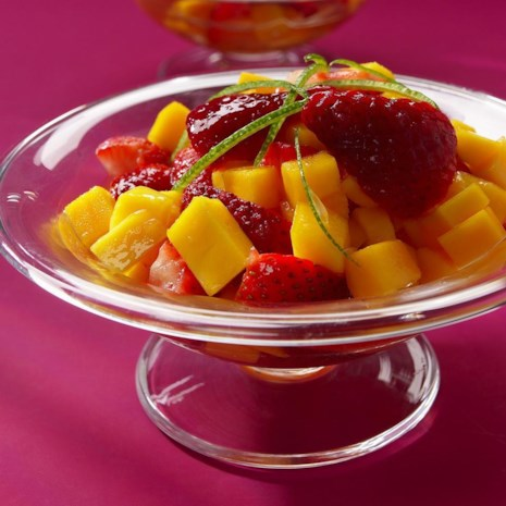 Strawberry-Mango Margarita Compote
