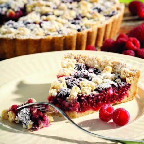 Raspberry-Almond Crumb Tart