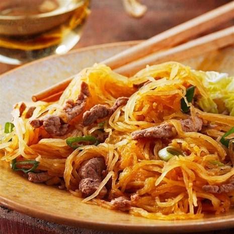 Spaghetti Squash & Pork Stir-Fry