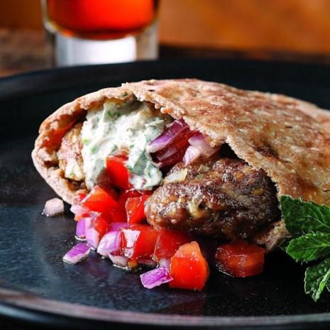 Turkish Lamb Pita Burgers
