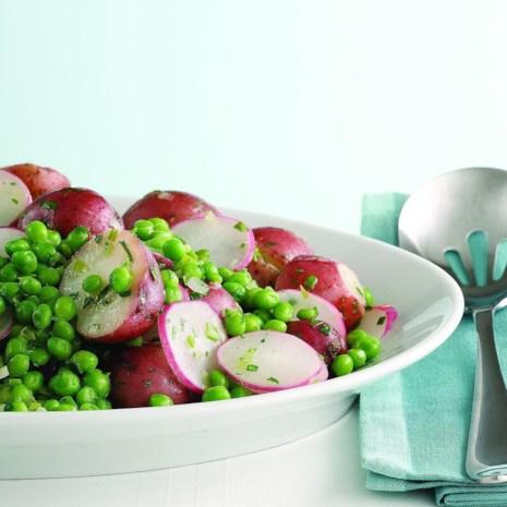 Pea & New Potato Salad (Nye kartofler og rte Salat)
