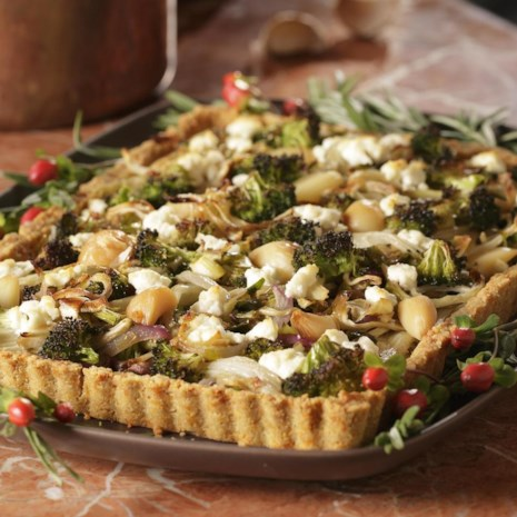 Roasted Fall Vegetables in Cheddar Crust